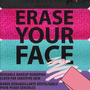 Other - NEW  Erase Your Face Reusable Makeup Remover Cloth
